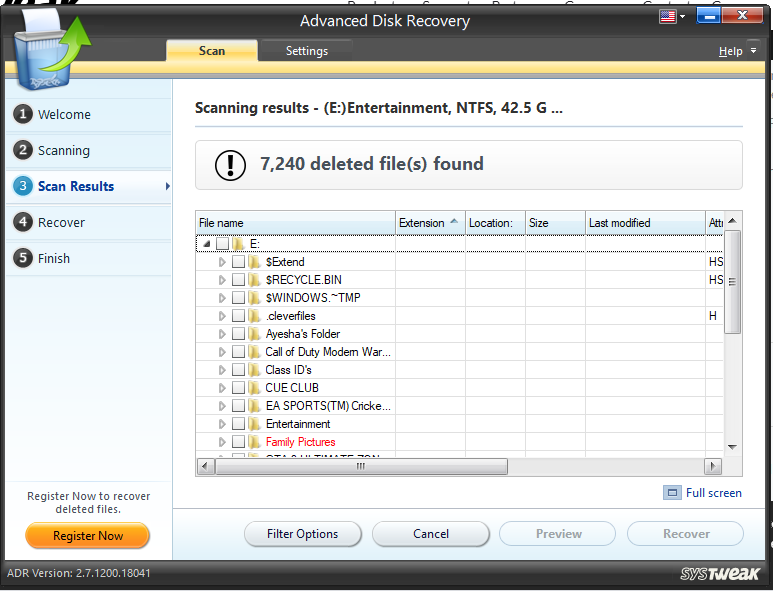 Advance Disk Recovery free software